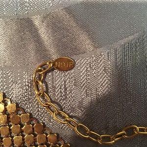 289774e7b2df7 Diamant Noir Paris Tops - Diamant Noir Paris Vintage 1980s Gold Metal Mesh